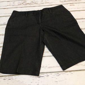 Denim Dressy Bermuda Shorts - Dark Wash